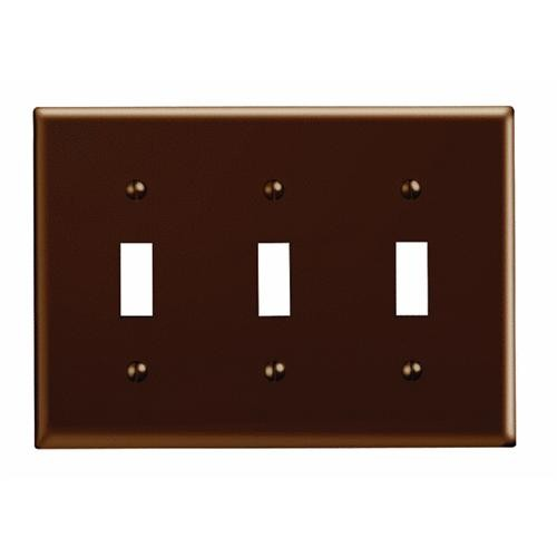Leviton Plastic Triple Switch Wall Plate
