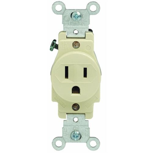 Leviton Ivory Single Outlet