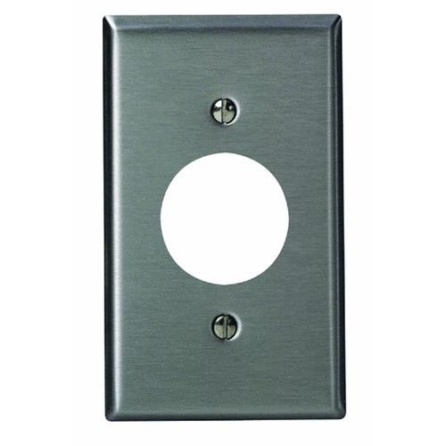 Leviton Leviton Single Stainless Steel Outlet Wall Plate