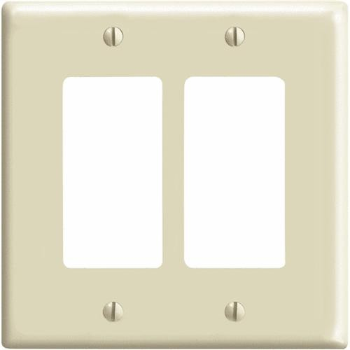 Leviton Plastic Mid-Way Decorator Wall Plate