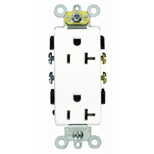Leviton Decora Plus Grounded Duplex Outlet