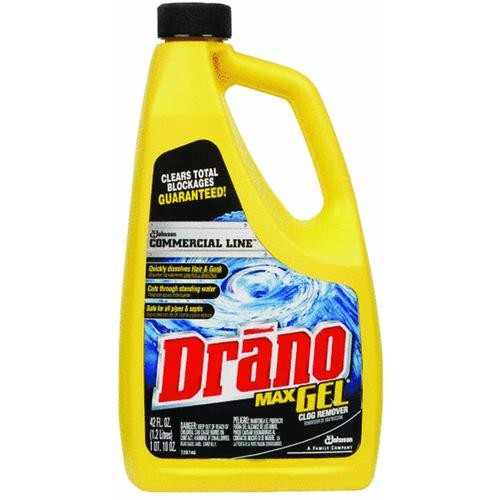 Johnson S C Inc Commercial Line Drano Max Liquid Drain Cleaner Clog Remover