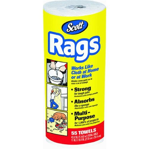 Kimberly-Clark/Scott Paper Scott Rags On A Roll, White