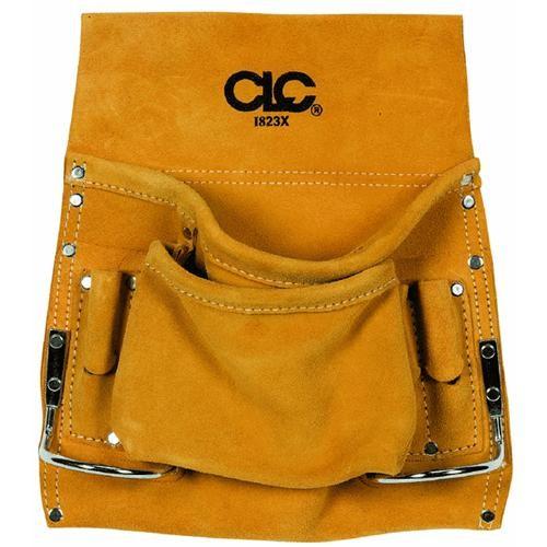 Custom Leathercraft 8-Pocket Leather Nail Bag