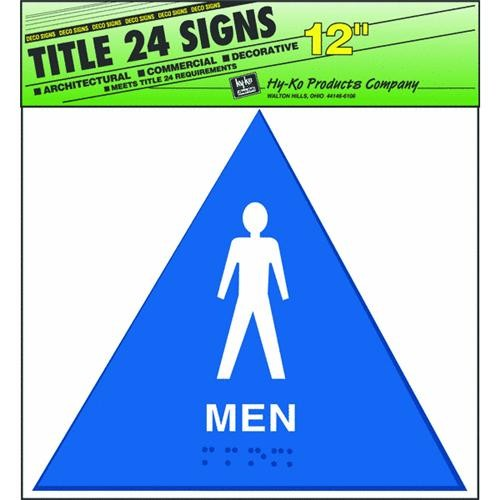 Hyko Prod. Blue Triangle Sign-Mens