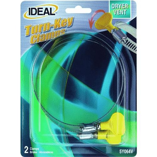 Ideal Corp. 2-Pack Turn-Key Dryer Vent Clamp