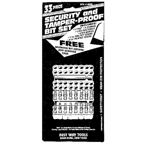 Best Way Tools 33-Piece Security Insert Screwdriver Bit Set