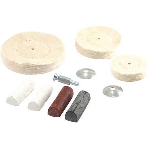 Forney Industries 7-Piece Buffing Wheel Kit