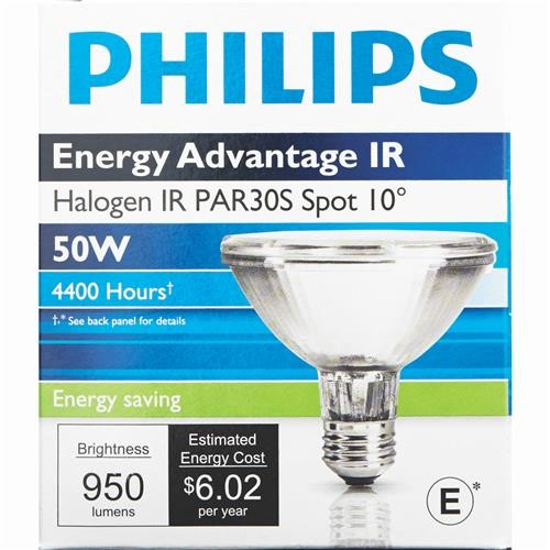 Philips Lighting Co Philips Energy Advantage IR 75W Equivalent PAR30 Halogen Spotlight Light Bulb