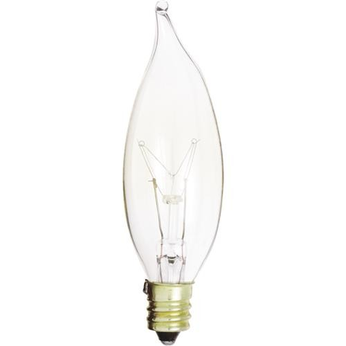 SATCO PRODUCTS, INC. Satco CA8 Incandescent Turn Tip Decorative Light Bulb