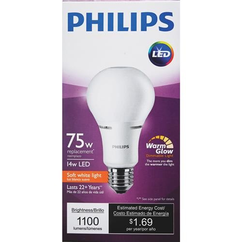 Philips Lighting Co Philips A21 Medium Dimmable LED Light Bulb