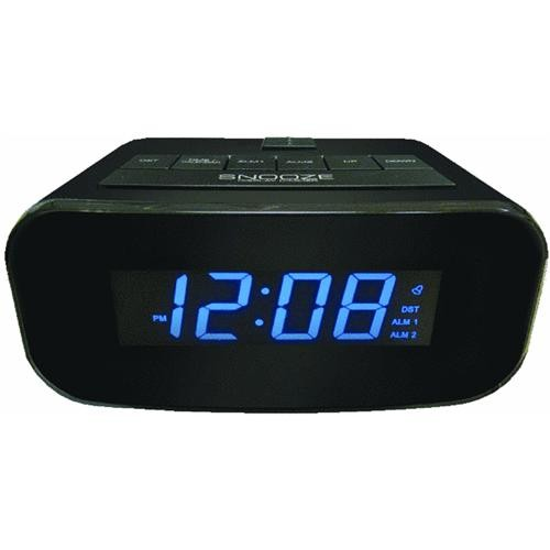 Geneva Clock Company LCD Electric Alarm Clock with USB Port