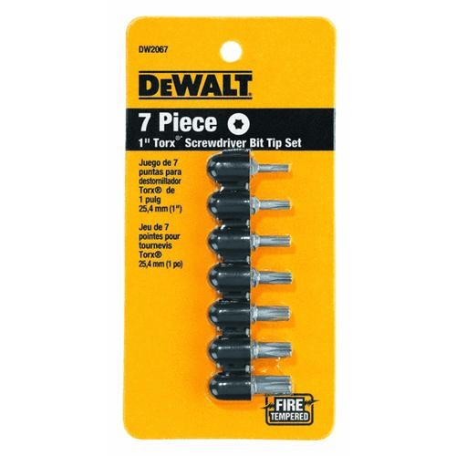 Black & Decker/DWLT DeWalt 7-Piece TORX Screwdriver Bit Tip Set
