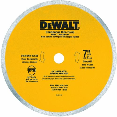 Black & Decker/DWLT DeWalt Ceramic Tile Saw Blade