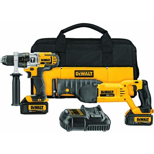 Dewalt DeWalt 20V MAX Lithium-Ion Hammer Drill/Reciprocating Saw Cordless Tool Combo Kit