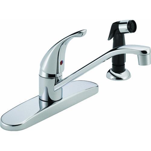 Delta Faucet Peerless Single Lever Handle Kitchen Faucet With Side Spray