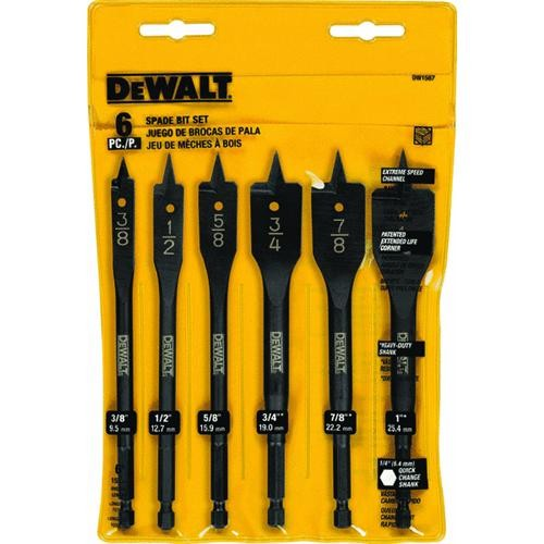 Black & Decker/DWLT DeWalt 6-Piece Heavy-Duty Spade Bit Set