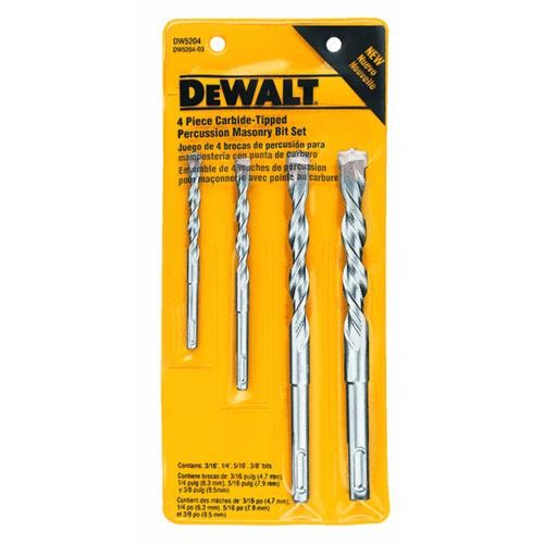 Black & Decker/DWLT DeWalt 4-Piece Percussion Masonry Drill Bit Set