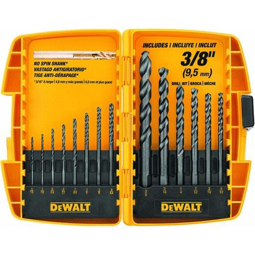 Black & Decker/DWLT DeWalt 14-Piece Black Oxide Drill Bit Set