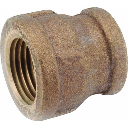 Anderson Metals Corp Inc Threaded Reducing Red Brass Coupling