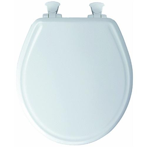 Bemis/Mayfair Easy-Close Round Wood Toilet Seat