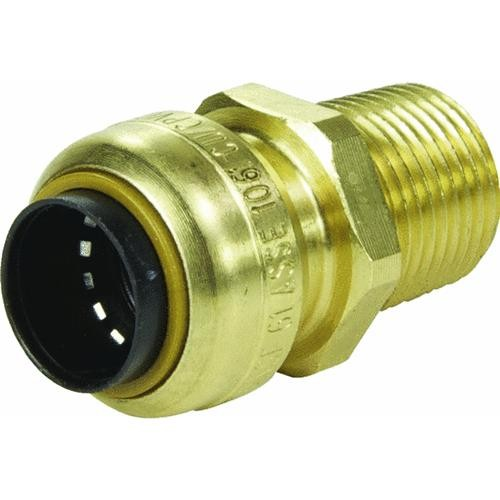 Cash acme sharkbite brass male adapter push pipe