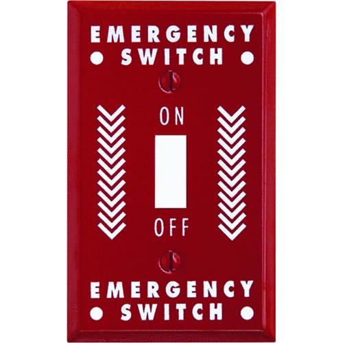 AmerTac Westek Amerelle PRO Emergency Stamped Steel Switch Wall Plate