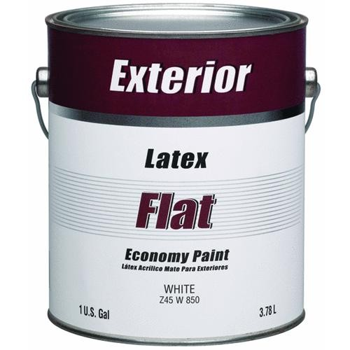 - Exterior Latex Flat White House Paint