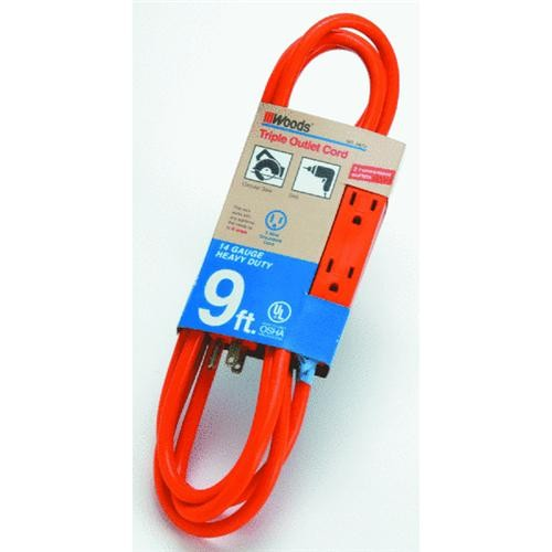 Woods Ind. 3-Outlet Extension Cord