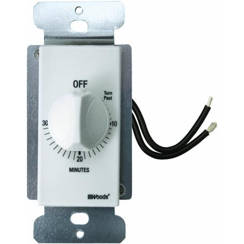 Woods Ind. Woods In-Wall 30 Min Spring Wound Timer