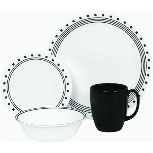 World Kitchen/Ekco Corelle 16-Piece City Block Dinnerware Set