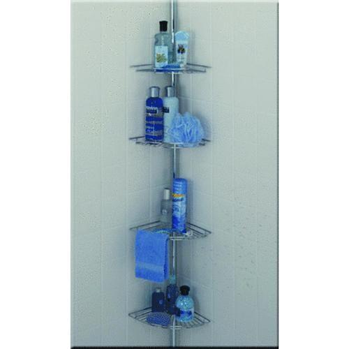 Zenith Prod. Zenith 4-Shelf Tension Pole Corner Shower Caddy