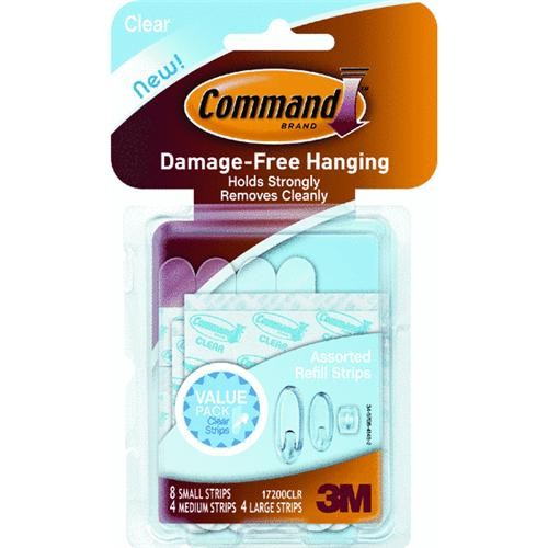 3M Command Clear Adhesive Strip