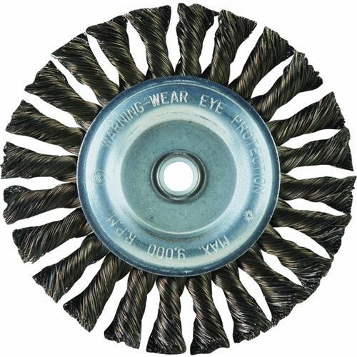 Weiler Brush Standard Twist Knot Wire Wheel
