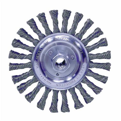 Weiler Brush Vortec Pro Standard Twist Knot Angle Grinder Wire Wheel