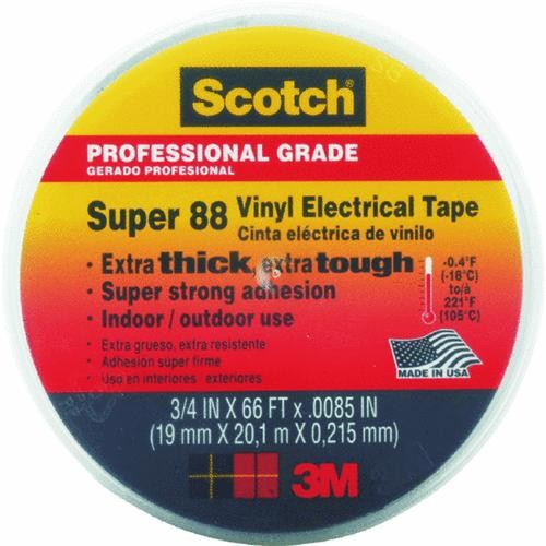 3M Black Scotch Vinyl Plastic Electrical Tape