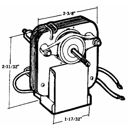 United States Hdwe. Exhaust Fan Motor