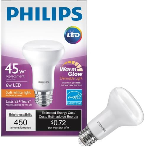 Philips Lighting Co Philips Warm Glow R20 Medium Dimmable LED Floodlight Light Bulb