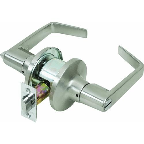 Tell Mfg. Inc. Light-Duty Commercial Satin Chrome Privacy Lever Lockset