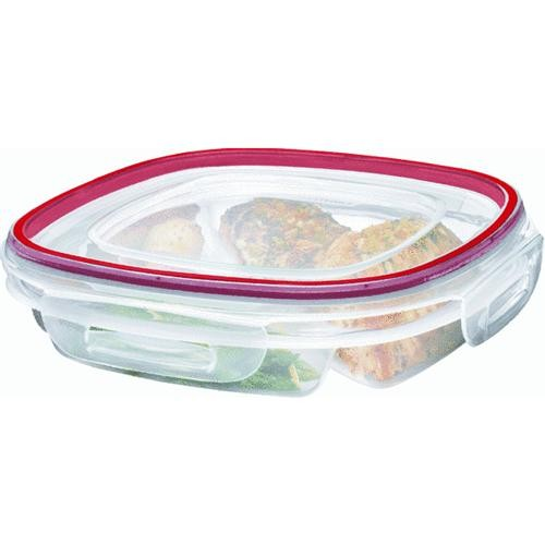 Rubbermaid Home Divided Lock-its Food Storage Container