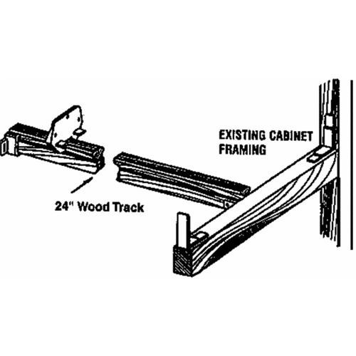 Prime Line Prod. Wood Drawer Track Kit