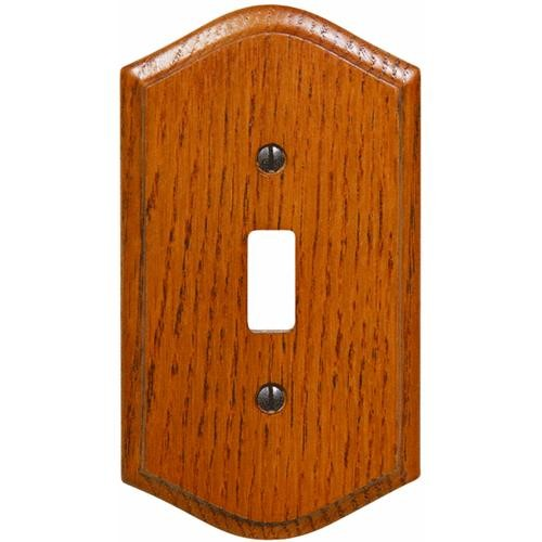 AmerTac Westek Amerelle Country Medium Oak Switch Wall Plate