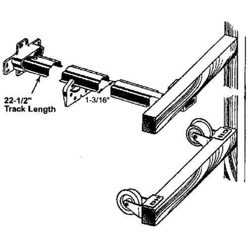 Prime Line Prod. Rolled Edge Drawer Track Kit