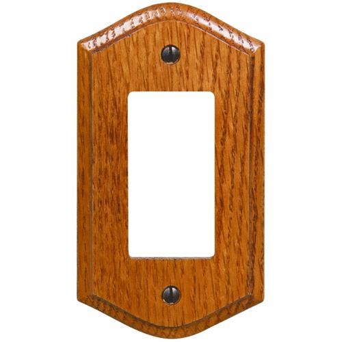 AmerTac Westek Amerelle Country Medium Oak Rocker Decorator Wall Plate