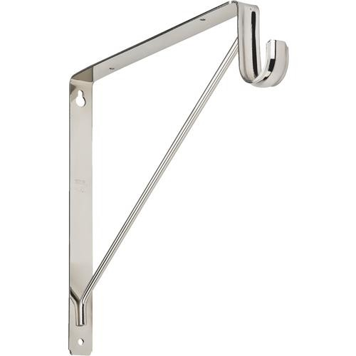 National Mfg. Heavy-Duty Shelf And Hang Rod Bracket