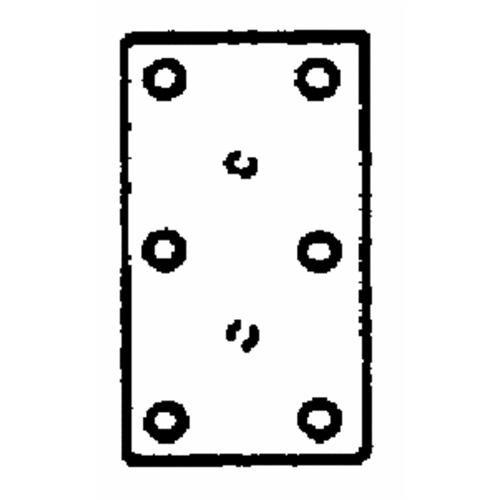 National Mfg. National Catalog V119 Mending Plate