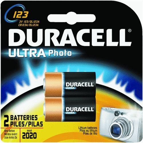 P & G/ Duracell 2-Pack DL123 3V Camera Battery