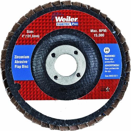 Weiler Brush Weiler Vortec Angle Grinder Flap Disc