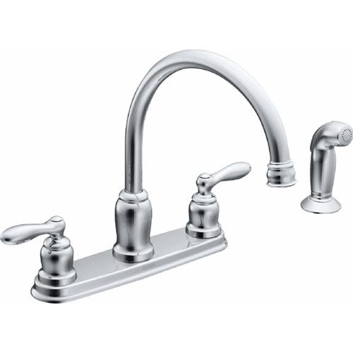 Moen Inc Caldwell Chrome Kitchen Faucet With Spray