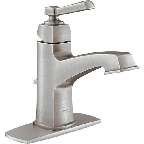 Moen Inc Moen Boardwalk 1-Handle Brushed Nickel Bathroom Faucet
